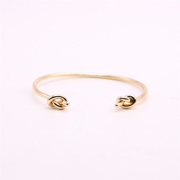 False knot bangles for girls Double cross knot women bangles Retail and wholesale mix Free shipping