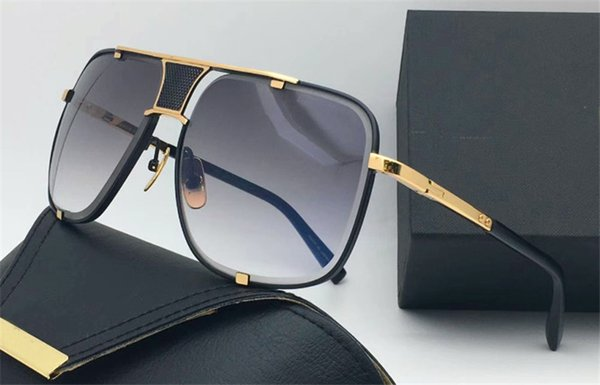 Selling fashion designer sunglasses metal square 18K gold frame punk style top quality popular style uv protection eyewear