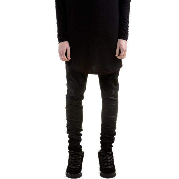 New Fashion Mens Black Skinny Jeans Pants Hi -Street Hip Hop Swag Men Denim Joggers Pants Famous Brand Designer Men Trousers