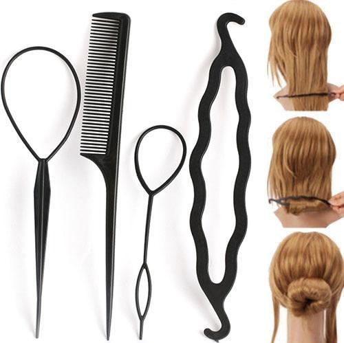 4Pc/Set Braiders Hair Twist Styling Clip Stick Bun Maker Braid Tools Hair Braider Accessories Hot for Women Lady Girls