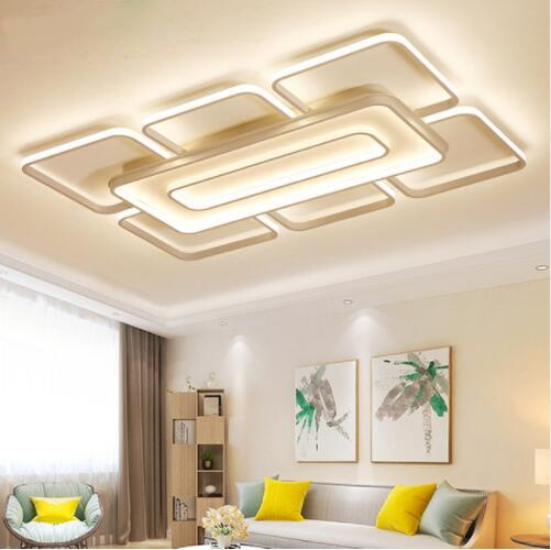 2019 Modern Ultra Thin Led Ceiling Light Postmodernist Art Square Ceiling  Chandeliers For Living Room Bedroom Kitchen Home Light Fixtures From ...