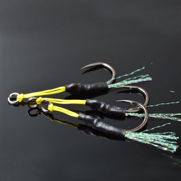 6pcs/lot Lead Fish Hooks High Carbon Steel Fishhooks Hook professional Barbed Hook Ocean Boat Fishing tackle