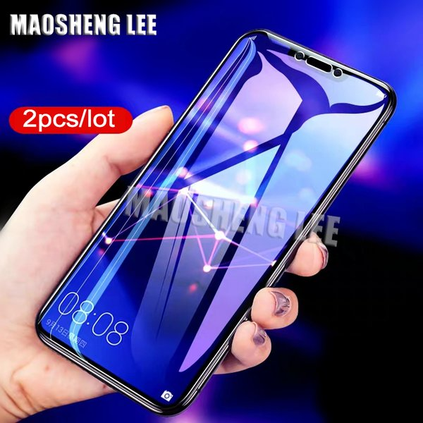 2pcs/lot Tempered Glass For Huawei Mate 20 Lite Glass Screen Protector 9H Anti Blu-ray Protective for huawei mate 20 lite