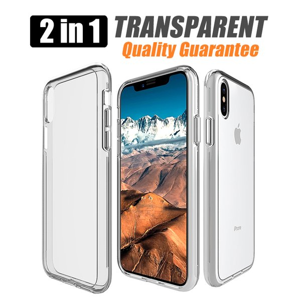 For samsung galaxy s9 plus A8 2018 lg v30 Transparent Hybrid Bumper Anti-scratch Cover phone cases For iphone x 8 7 Clear cellphone case