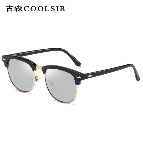 Round Sunglasses For Women,Blue Mirrored Color John Sunglasses Polarized For Men Women Glass Driving Outdoor Uv400