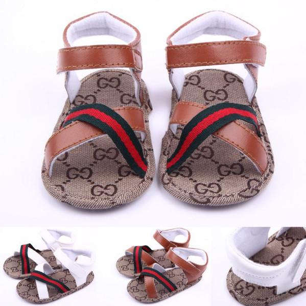 Sandálias de bebê de verão crianças meninos pu primeiro Walker Shoe bebê moda antiderrapante sapatos
