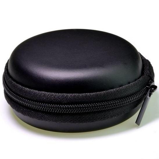 Mini Round Sport Earphone Cable Bags Carrying Storage Hard Zipper Case Headphone Fidget Spinner SD TF Cards USB Cable Cord Wire Protect Case