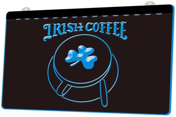 LS1729-g-Irish-Coffee-Cup-Shop-Shamrock-Neon-Light-Sign Decor Free Shipping Dropshipping Wholesale 6 colors to choose