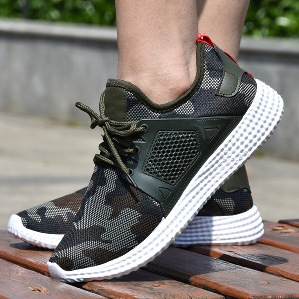 HOT SELL new men's single shoe casual shoes in autumn 2018 are men's camouflage casual shoes