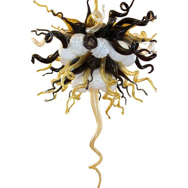Chihuly Style Top Quality Hand Blown Glass Chandelier Light Hotel Decor Modern Art Glass Designed LED Hanging Chain Chandelier