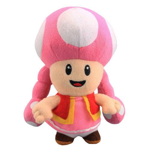 Hot Sale 17cm Mushroom Girl Toadette Super Mario Bros Plush Stuffed Doll Toy For Kids Best Holiday Gifts