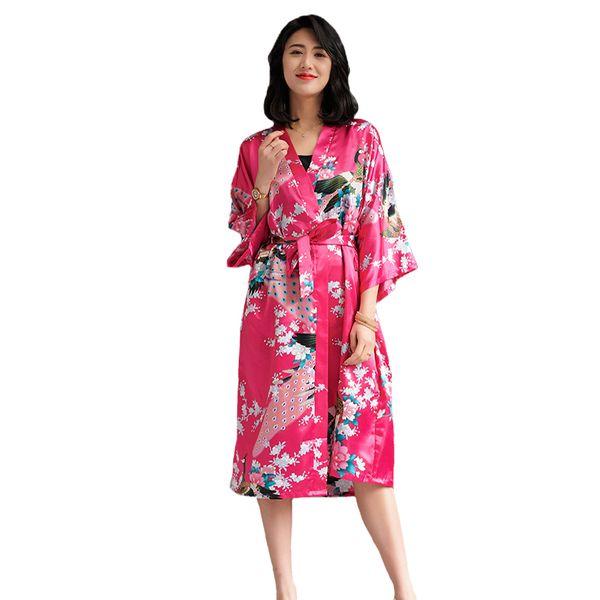 Casual Kimono Bathrobe Gown Women Sexy Wedding Bride Bridesmaid Robe Set 2PCS Sleepwear Rayon Geisha Nightgown Robe Sleep Suit