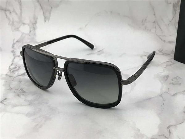 Luxury Square Pilot Sunglasses Matte Black Frame Sonnenbrille occhiali da sole Luxury Designer Sunglasses for men glasses wth box