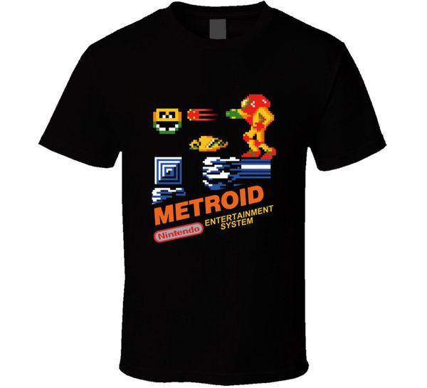 Metroid NES BOX Kunst Video Spiel T Shirt T-Shirt Retro Vintage Gamers Geschenk Neu von USMen Short Sleeves T Shirt Top-Tee