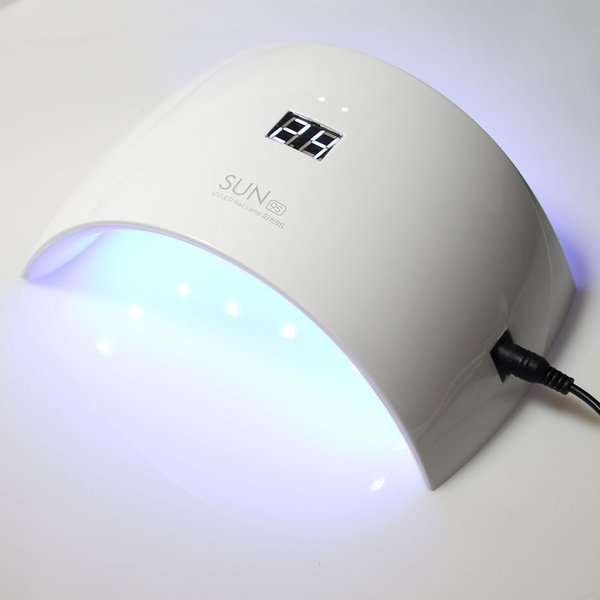 2017 Nueva Llegada SOL 9C9S 24W Arqueado Lámpara de Uñas en Forma de LED Secador de Uñas Manicure Design Tool Gel Polish Dryer Beauty Salon