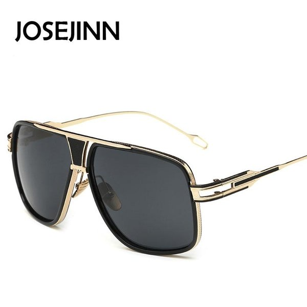 Wholesale- Josejinn Mens New Brand Square Sunglasses Men Oversized Retro Sun Glasses for Women Vintage Glasses or Lunettes De Soleil Gafas