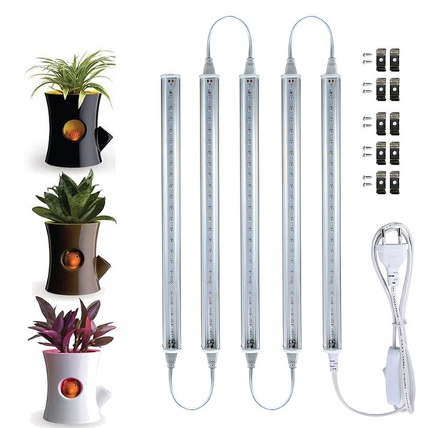 380-700nm T5 Full Spectrum LED Grow Light Garden Aquarium Light Tube Tubo Tubo de integración para plantas medicinales y floración Color rosa rojo