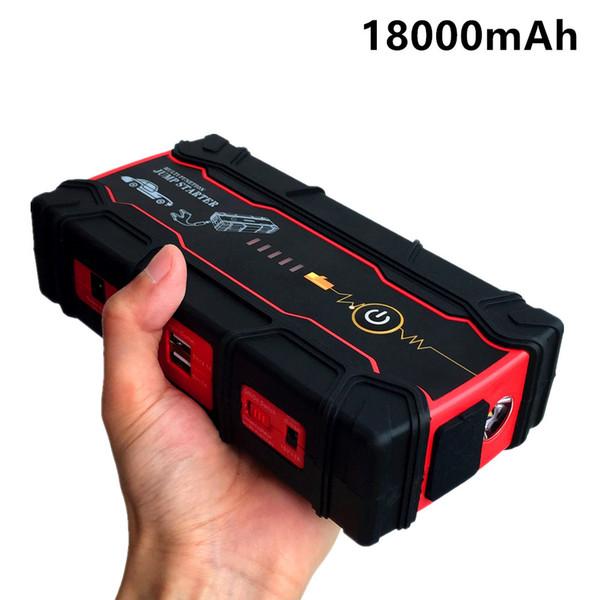 2018 Starting Device 18000mAh Car Jump Starter Mini Power Bank 12V Petrol Diesel Car Charger For Battery Buster LED