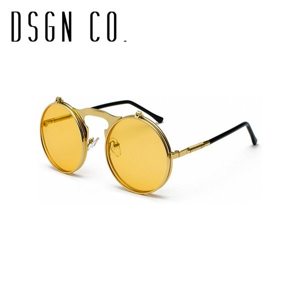 Cadre d'or jaune lentille