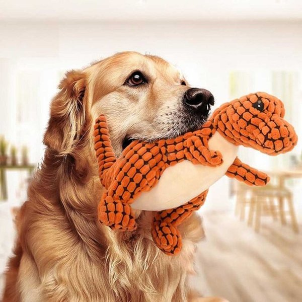 10'' Potala Various Pet dogs toy Pet Puppy Chew Squeaky Dinosaurs Plush Toys Velvet Sound Toys For Dog Puppy Stuffed animals funny interests