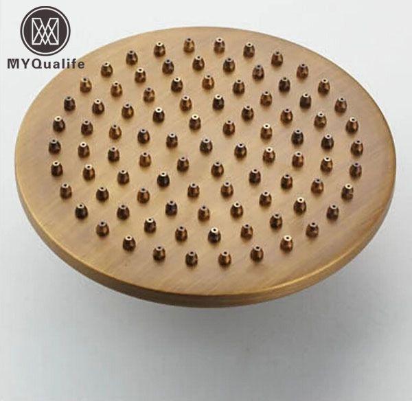 best selling Free Shipping Round 8-inch Brass Shower Head Antique Brass 20cm Showerhead