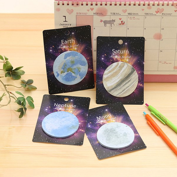 Creative Planet Sticky Note Mini Round Paper Memo Pad Decoration DIY Album Diary Scrapbooking Label Sticker Stationery
