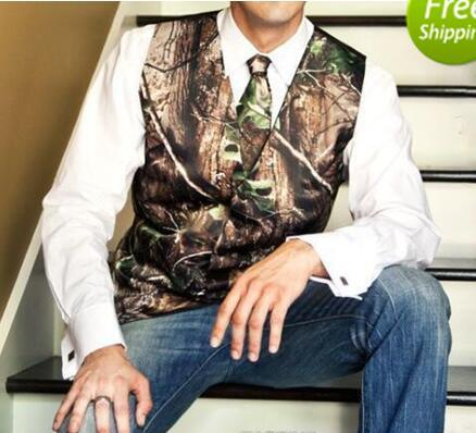 2018 new airtailors camo wedding vests groom vest realtree spring camouflage slim fit mens vests thumbnail