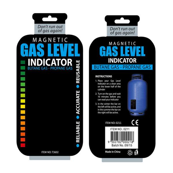 Gas Level Indicator Propane Butane LPG Fuel Gas Tank Level Indicator Magnetic Gauge Caravan Bottle Temperature Measuring Stick