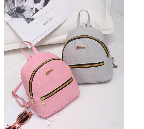 2ab5a13220a2 Men And Women Shoulder Bag Fashion Simple Zipper Backpack Triangle Iron  Standard Solid Color Double Back College Wind Handbag Swiss Army Backpack  ...