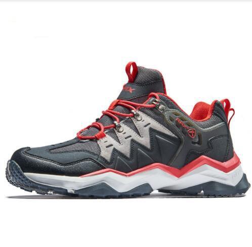 Men's Waterproof Hiking Shoes Outdoor Multi-terrian Mountain Climbing Backpacking Trekking Sneakers Men Lightweight Leather Camping Shoes