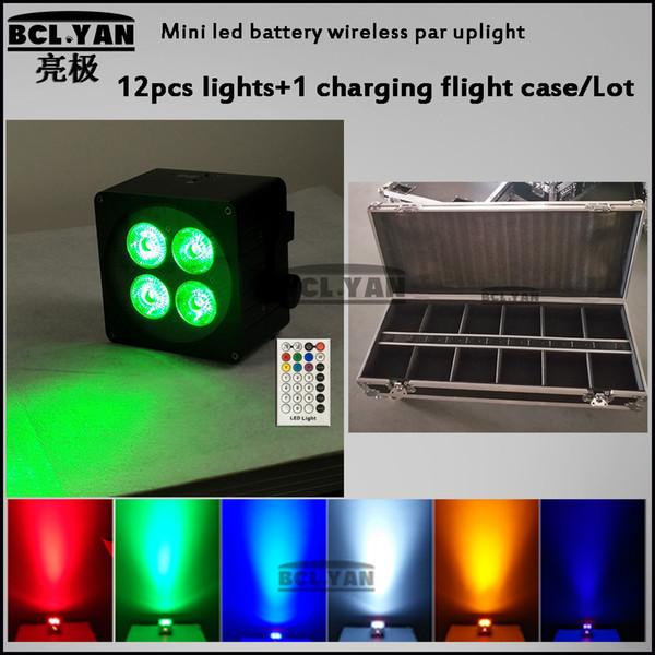 12 XLOT LED Par Plana 4x18 W RGBWAP 6 in1 cor bateria sem fio iluminação DMX512 para atmosfera de discoteca DJ Music Party Club BAR