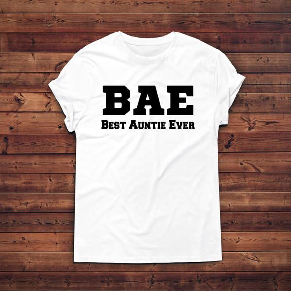 Großhandel Bae Beste Tante Je T Shirt Slogan T Shirt Geschenk Für Tante Tante Geschenk Mode Neue T Shirts Lustige Tops Tee Neue Lustige Unisex