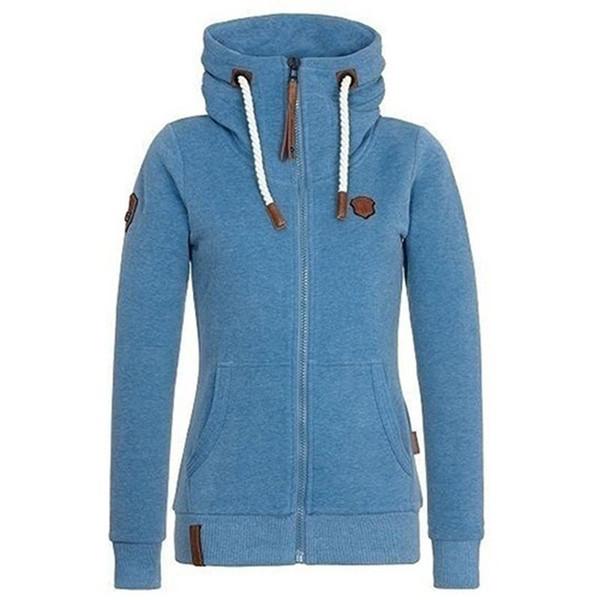 Женщины толстовки осень с капюшоном толстовки высокий воротник с капюшоном хлопок пальто куртки плюс флис толстовки плюс размер 5XL DP816352