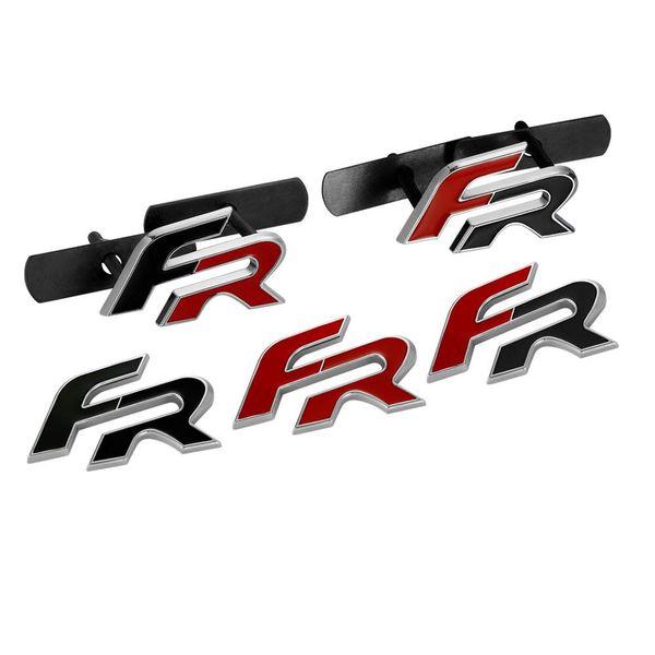 top popular FR Metal Car stickers emblem badge for Seat leon FR+ Cupra Ibiza Altea Exeo Formula Racing Car Accessories Car Styling 2021