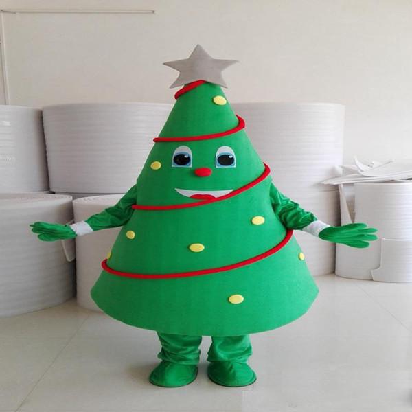 2018 de alta calidad del árbol de navidad vestido de la mascota de la historieta vestir adulto tamaño carnaval traje de la mascota del partido del partido día de San Valentín