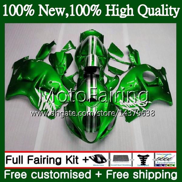 Корпус для SUZUKI глянцевый зеленый Hayabusa GSXR1300 96 97 98 99 00 01 56MF15 GSXR 1300 GSX R1300 GSXR-1300 02 03 04 05 06 07 обтекатель кузова
