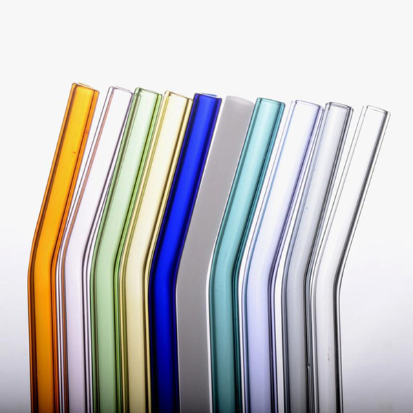 100% brand new and high qualityReusable Glass Straws Smoothie Drinking Straws for Milkshakes Frozen Drinks pqw0713