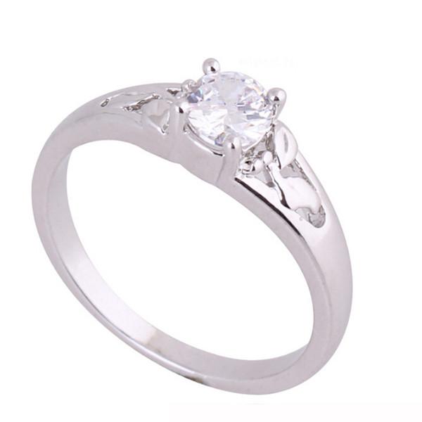 Fashion Women Ring High Quality Alloy electroplated stone lady wedding ring Fine zircon Elegant Beautifu Propose