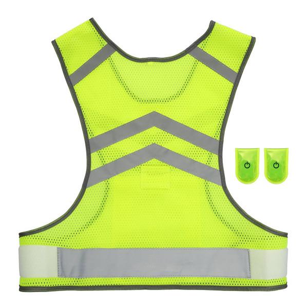 Y6504-2-L Outdoor Sports Running Reflective Vest Adjustable Lightweight Mesh Safety Gear for Women Men Jogging