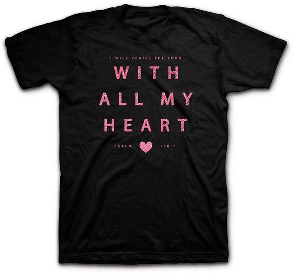 Mein ganzes Herz Valentinstag-T-Shirt Jugend-runder Kragen Kundengebundene T-Shirts Sommer-Mode-lustige Druck-T-Shirts kreativ