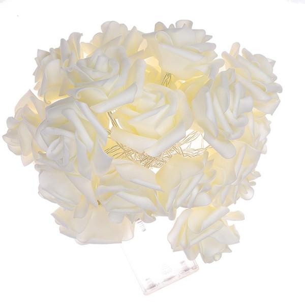 20LED 40LED Rose Light 8 colores Funciona con batería o con energía solar LED Luces festivas Fija Flash Fairy String Light Party Home Xmas Wedding Decor