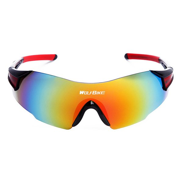 WOSAWE UV400 Cycling Glasses Men Women Outdoor Sports Fishing Bike Bicycle Windproof Sunglasses with 1 Lens and Box Package