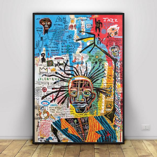 Jean Michel Basquiat Lámina de seda decorada con adornos para el hogar