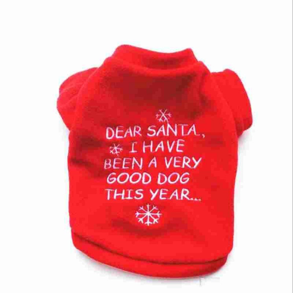Kitten Christmas Sweater.2019 Xmas Dog Sweater Cat Hoodie Pet Red Clothes Kitten Puppy Outfit Dogs Clothing Cats Jumpsuit Dog Cat Jumper Christmas Sweater From Esw Home 1 81