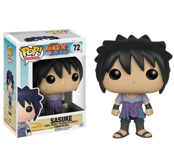 FUNKO POP Animação Naruto Shippuden Sasuke Figura de Ação de Vinil Com Caixa # 72 Brinquedo Boneca de Presente de Boa Qualidade