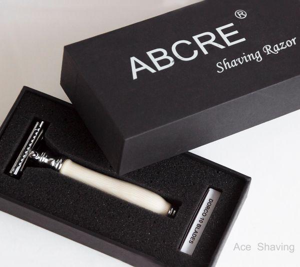 Stainless Safety Shaving Razor 10 Pcs Double Edge Blades Man Beard Clean Black Carton Gift Box