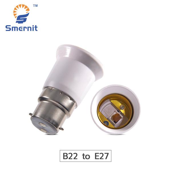 1 UNIDS B22 a E27 LED Convertidor de Lámpara Convertidor de Lámpara LED Adaptador de Base de Luz Adaptador de Base de Conversión de Enchufe de Luz Adaptador de Tornillo de Base
