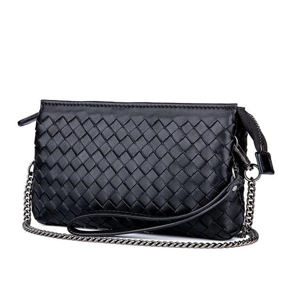 brand new famous designer 15 color real leather women's clutch bag high quality small bag with handle 09