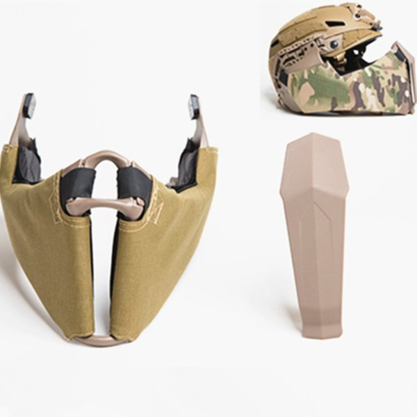 Tactical Masks Mandible Guide Rail Connection Half Face Mask for OC Highcut Helmet