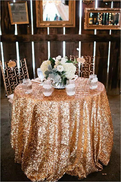 Custom Size Sparkly Sequin Table Cloth Garden Wedding Party 2018 new charming Sequins Cake Table Cloth